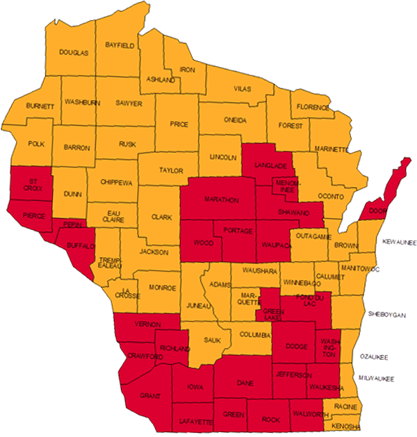 Radon testing l homereview inspection services epa wisconsin map of radon zones sciox Image collections
